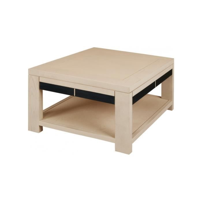 Table Basse Carr E Ch Ne Naturel Double Plateau Cannel