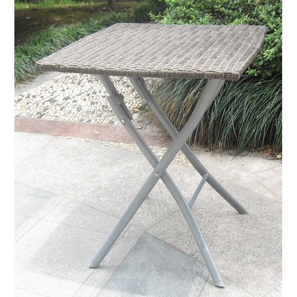 Table bistrot carr e pliante en teck huil 65x75cm table for Table de bistrot pliante