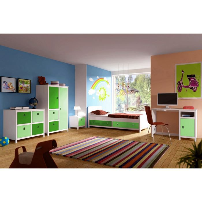 Vert chambre coucher meilleures images d 39 inspiration for Achat chambre a coucher