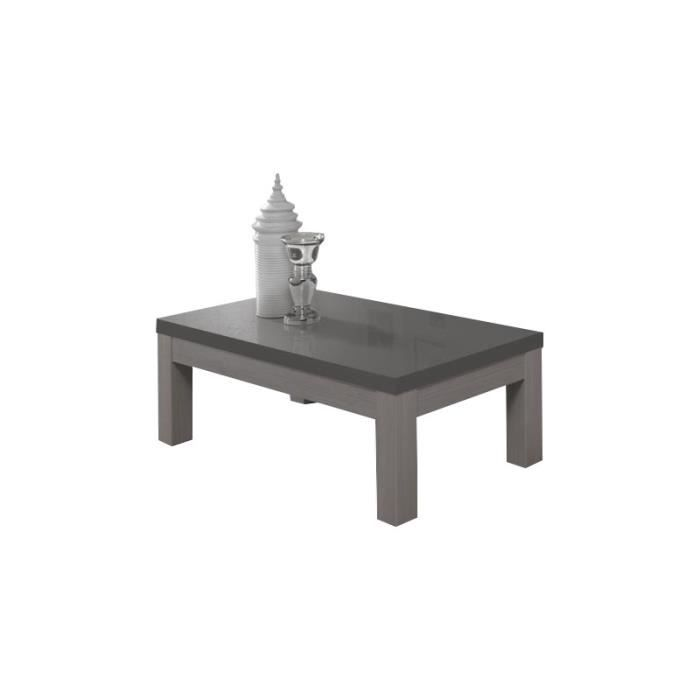 Table Basse Salon Fano Chene Gris Achat Vente Table Basse Table