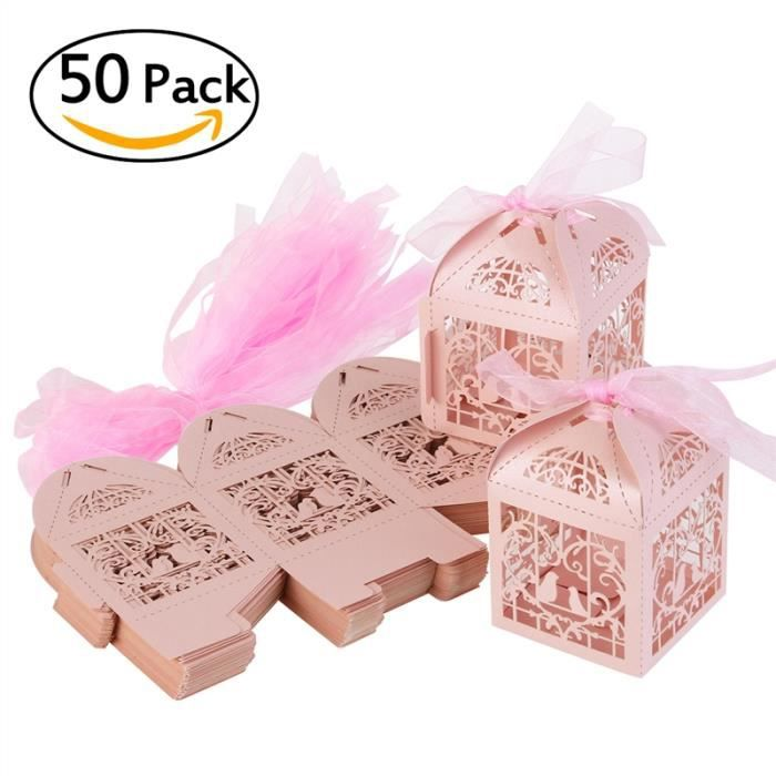 Boite a dragee mariage rose achat vente boite a dragee mariage rose pas cher cdiscount - Boite de dragees pour mariage ...