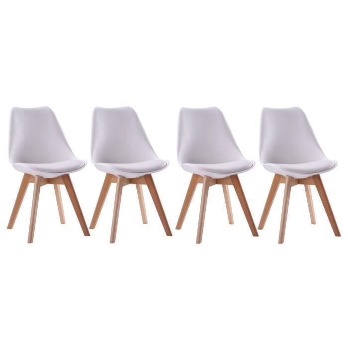 coussin NORA Lot de 4 avec scandinave blanches chaises dWErBeCoQx