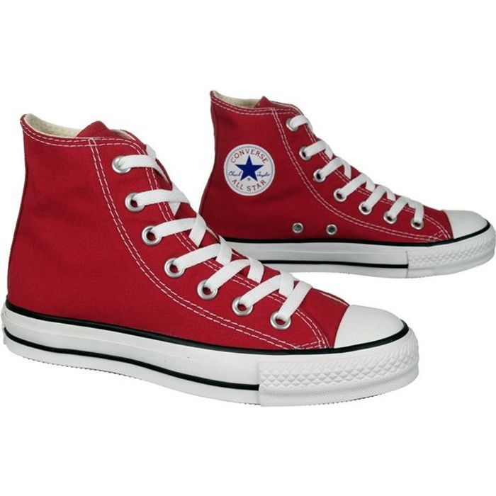 Converse All Star Noir Et Rouge