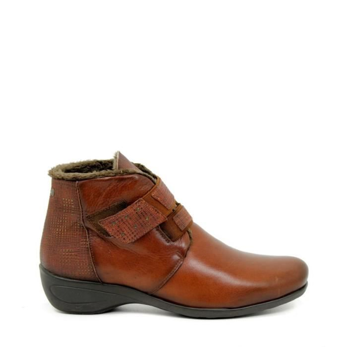 APLAUSO Bottines- Velcro - Cuir - Cuir - Taille - Trente-neuf Femme Ref. 1913_18882