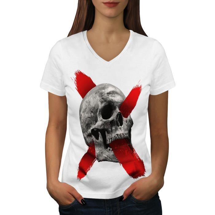 T-SHIRT Squelette Roche Crâne Traverser Women  T-shirt à s