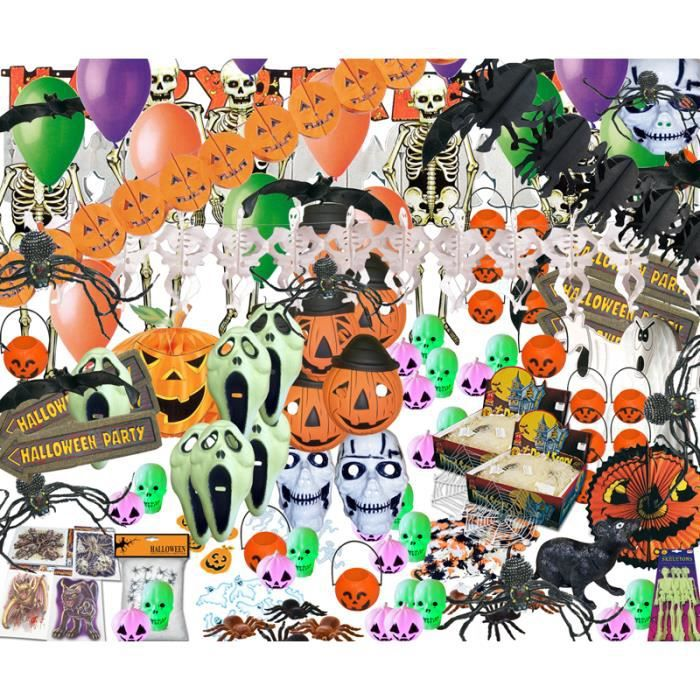decorations kit decoration halloween grande salle achat. Black Bedroom Furniture Sets. Home Design Ideas