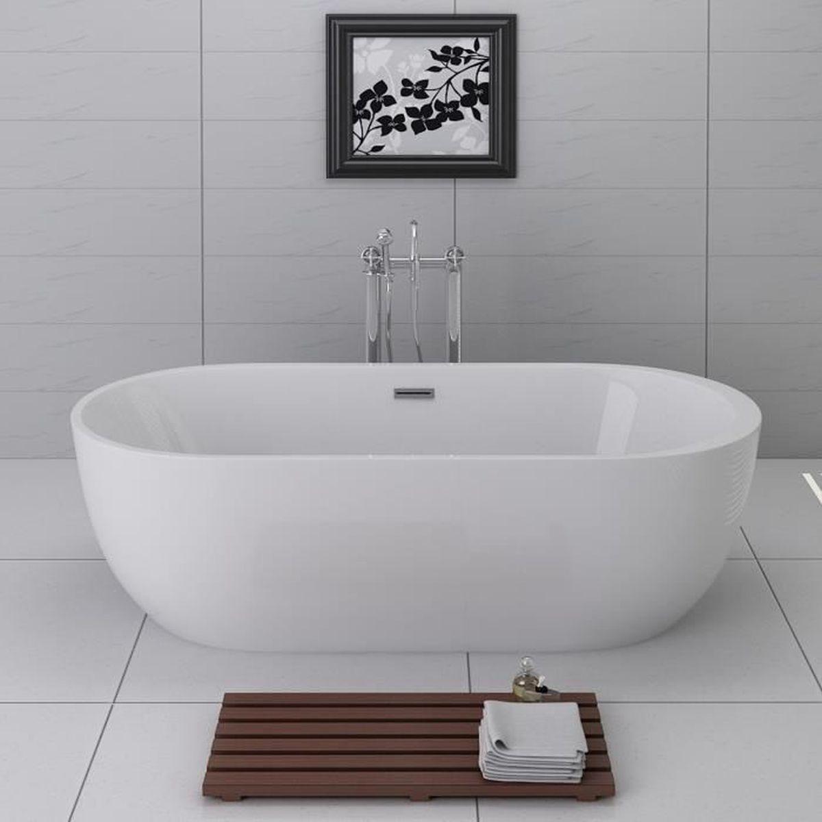 Baignoire ilôt monobloc ASPEN - 20 cm Design moderne et confort
