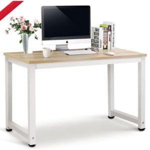 MEUBLE INFORMATIQUE Table pour ordinateur Bureau + Cadre en acier meub