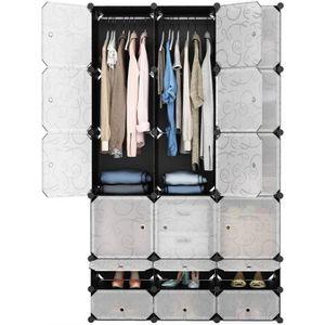ARMOIRE DE CHAMBRE WIND 18-Cube Armoire de Chambre avec porte Meuble