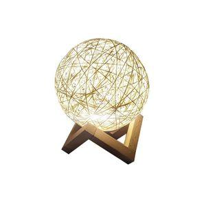 LAMPE A POSER LEDGLE lampe de chevet en rotin créative pour Mais