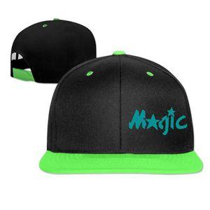 Orlando Magic Hip Hop Hat Chapeaux Black Snapback ajustés