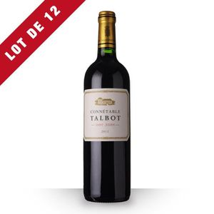 VIN ROUGE 12X Connétable Talbot 2011 Rouge 75cl AOC Saint-Ju