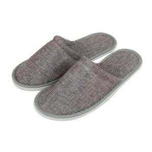 CHAUSSON - PANTOUFLE [Gris] Chaussons jetables en lin à 10 paires Chaus