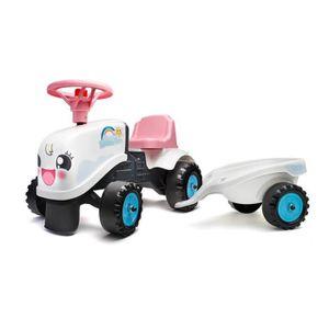 PORTEUR - POUSSEUR FALK - Porteur tracteur Rainbow Farm avec remorque
