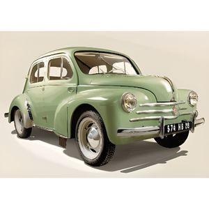 VOITURE À CONSTRUIRE Renault 4 CV verte