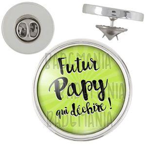 Magnet Aimant Frigo 3.8cm Futur Papy Qui D/échire Fond Vert Humour Annonce Naissance B/éb/é