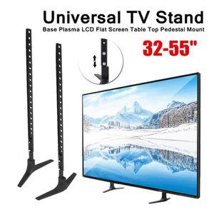 FIXATION - SUPPORT TV Double Supports Base d'écran TV LCD Réglable 800x4