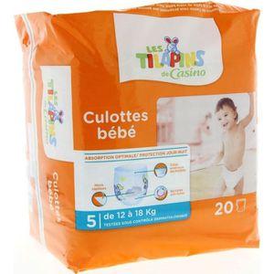 COUCHE LES TILAPINS Culottes bébé Taille 5 - 12 à 18kg -