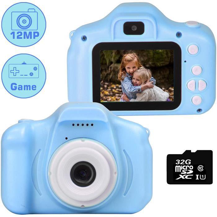 Kids Camera 1080P 12 MP Dual Selfie Photo / Vidéo HD Appareils Photo numériques, 2.0 -IPS Screen Antichoc Enfant Appareil Photo num