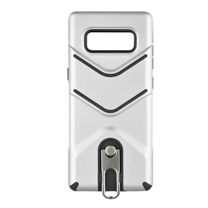 Étui de téléphone givré Anti-empreintes digitales Anti-poussière Coque de antichoc mince avec support de pied pour Samsung