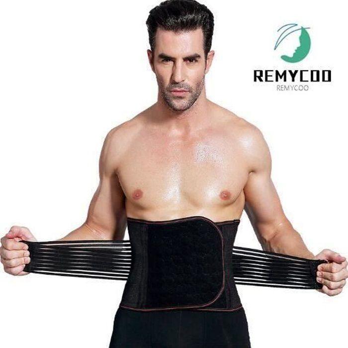Ceinture Abdominale Homme Réglable Ceinture Musculation Solide Maintien Meombaire Soutien de Dos Prévenir De Blessure Me72852