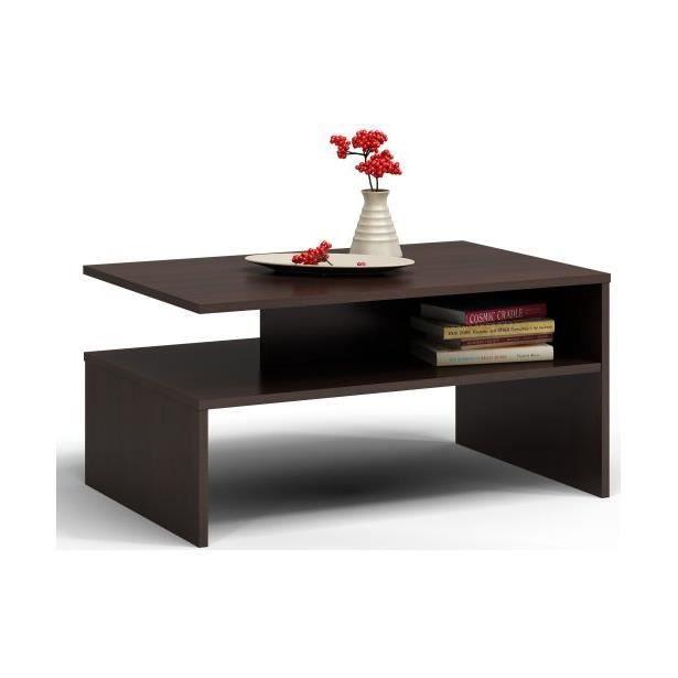 Table basse moderne 90x50x45 Boston Wengé