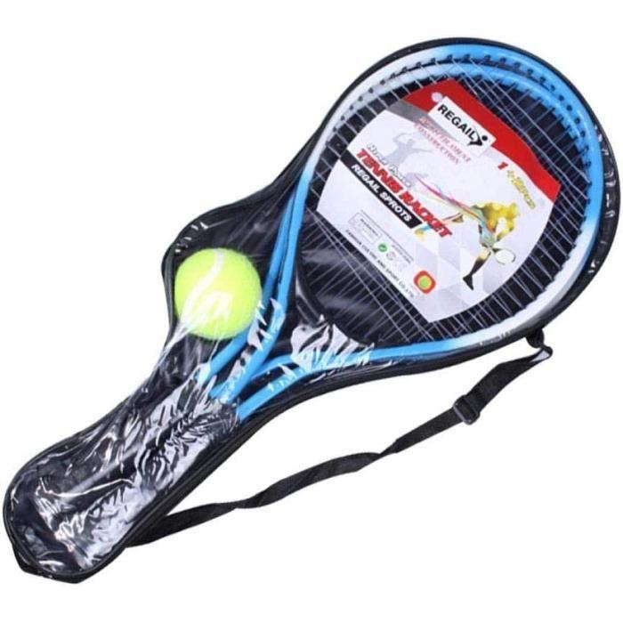 Raquettes de Tennis pour Enfants 2 pièces en Alliage de Fer Raquette de Tennis pour Enfants Raquettes de Tennis avec 1 Balle de ,585
