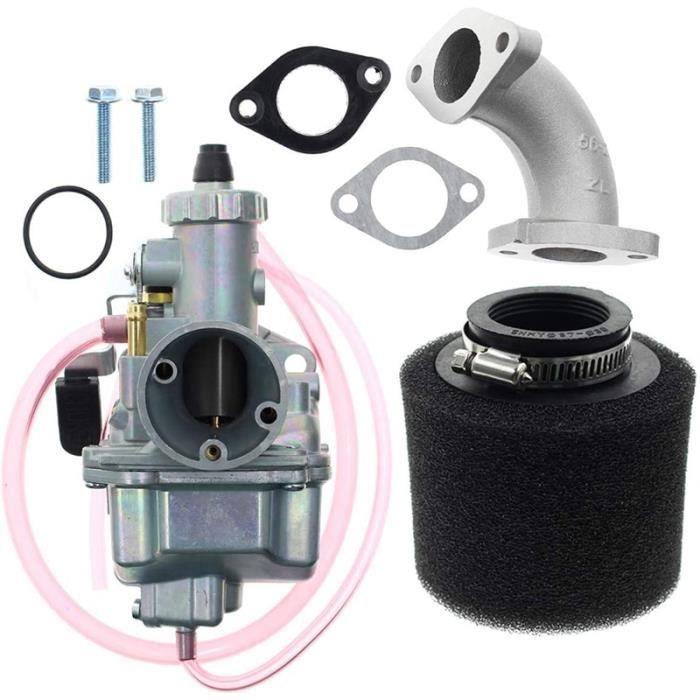 Réservoir D'essence,Carburateur VM22 26M avec filtre à Air pour 110Cc 125Cc 140Cc Lifan YX Zongshen Pit Dirt Bike - Type Silver