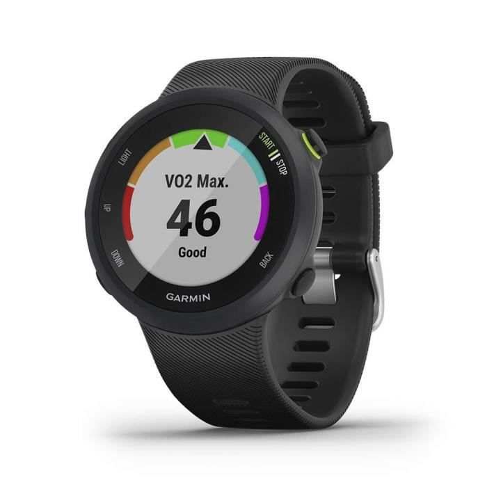Garmin - Forerunner 45 - Montre de course à pied avec prix en charge des programmes d'entraînement Garmin Coach - Large, Noir