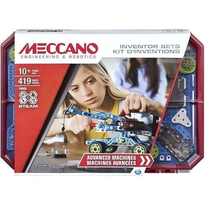 MECCANO Kit d'inventions – Set 7 Moteur & Engrenages