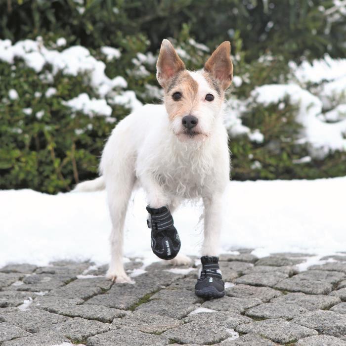 TRIXIE Bottes de protection Walker Active 2 pièces S-M - Noir - Pour chien