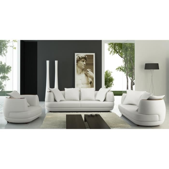 Sofa en cuir blanc a vendre for Divan jc perreault
