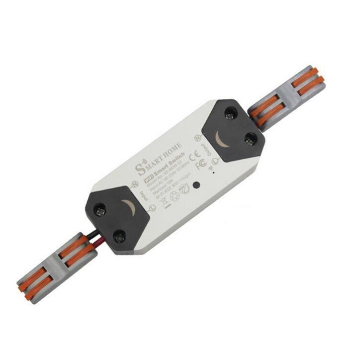 Commutateur /à Distance Intelligent Commutateur de Minuterie de Disjoncteur WIFI Intelligent pour Bo/îte de Distribution 1P AC230V 50Hz 00 IP20 1P 16A