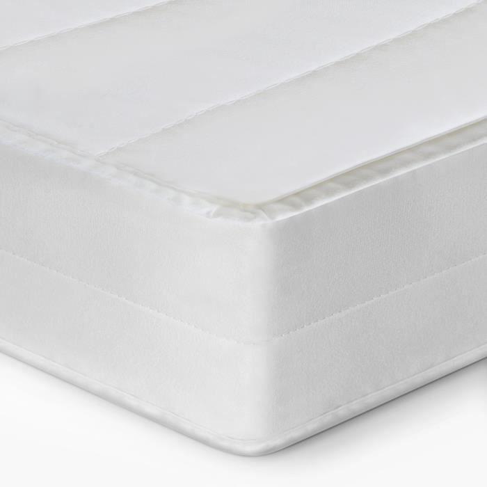 H2, 80 x 190 cm matelas b/éb/é Oeko-Tex Mousse Fermet/é H2/&H3 Mister Sandman matelas orthop/édique 7 zones housse amovible tissu doubl/é confort nuit incomparable hauteur 15cm