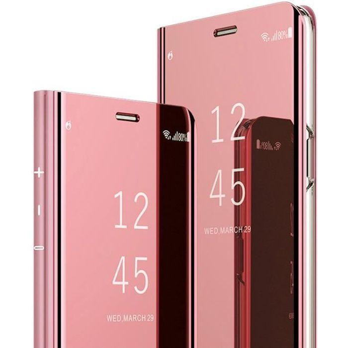 Coque Samsung Galaxy note 10 PC Miroir Etui Flip 360/° Protection Int/égrale Etanche Ultra Mince Anti-Choc Housse Transparent Clair Miroir Couverture pour Samsung Galaxy note 10 Pro Case
