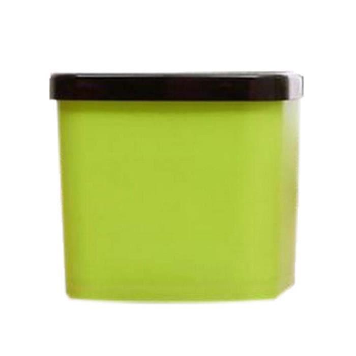 POUBELLE - CORBEILLE créatif mode mini-bureau trash/poubelle, carré ver
