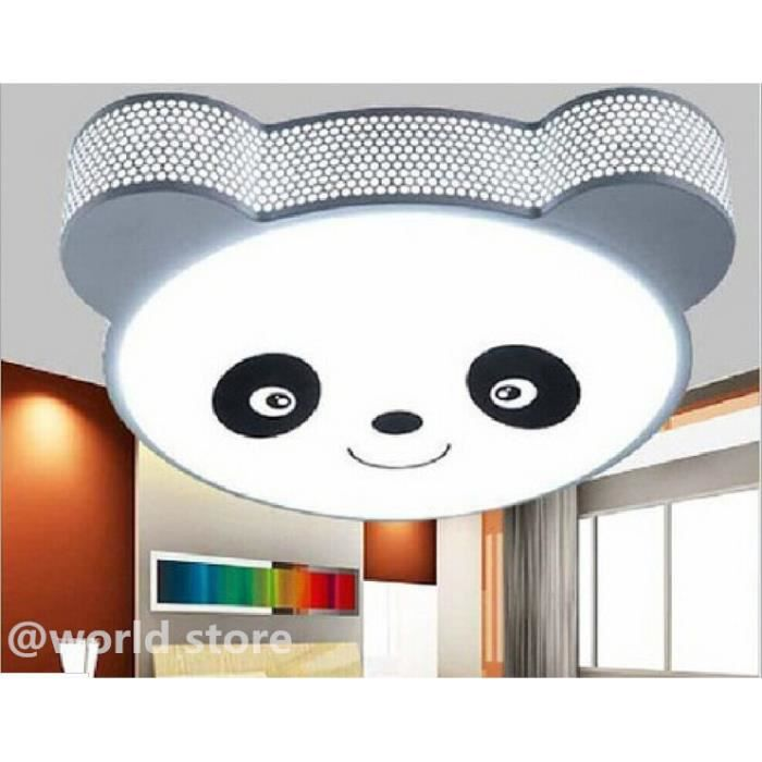 led plafonnier moderne lampe minimaliste chambre panda animation pour enfants achat vente. Black Bedroom Furniture Sets. Home Design Ideas