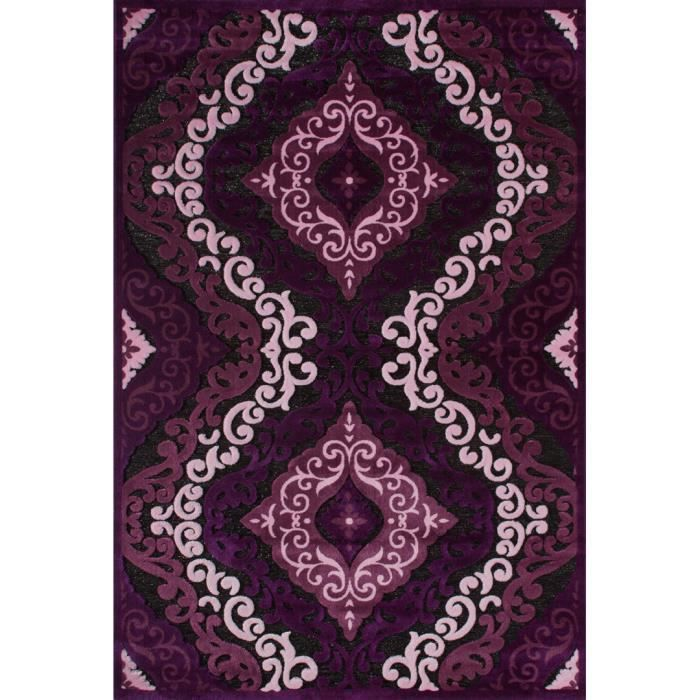 tapis motifs baroque violet de salon jericho ii achat. Black Bedroom Furniture Sets. Home Design Ideas
