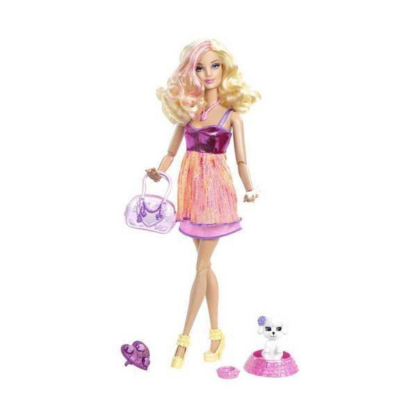 Barbie barbie fashionistas barbie chien de star les poup es for Barbie chien piscine