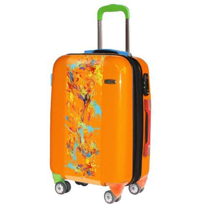 valise paint valise grand format tendance orange achat vente valise bagage valise paint. Black Bedroom Furniture Sets. Home Design Ideas