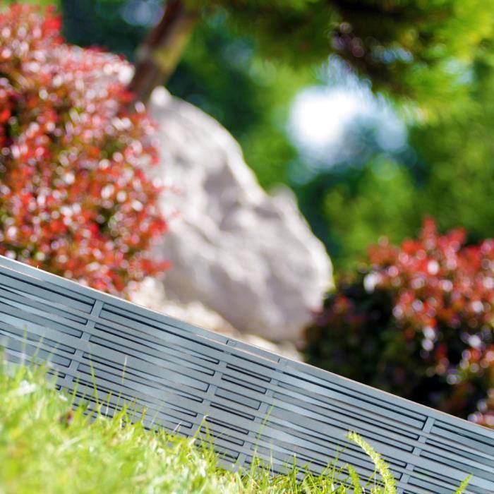 Deuba - Bordure de Jardin 7,8 m • Couleur Gris - délimitation Jardin  aménagement du Jardin