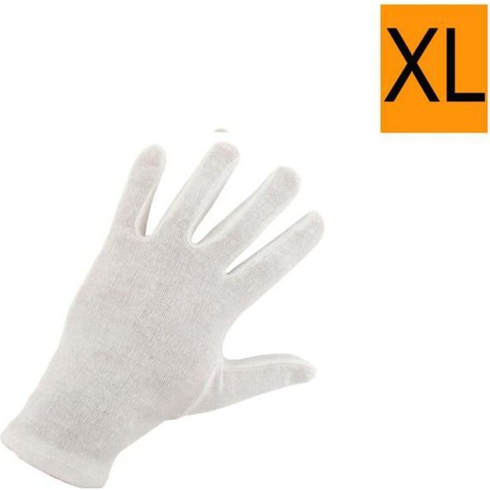 gants coton blanc taille xl 10 ep 4150 achat vente gant cdiscount. Black Bedroom Furniture Sets. Home Design Ideas