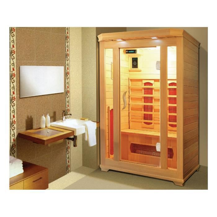 cabine de sauna infrarouge milla 2 places 120x achat vente kit sauna cabine de sauna. Black Bedroom Furniture Sets. Home Design Ideas