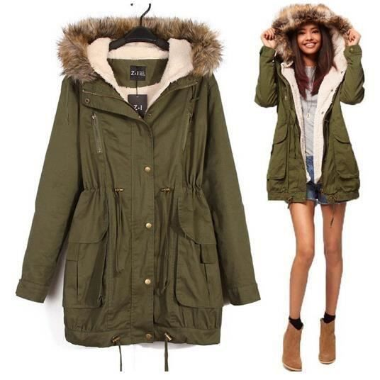 parka veste hiver femme manteau capuche v tement d montable chaud vert achat vente manteau. Black Bedroom Furniture Sets. Home Design Ideas