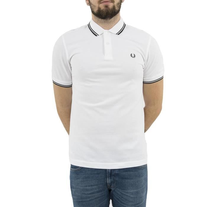 Polos fred perry mm3600 blanc Blanc - Achat