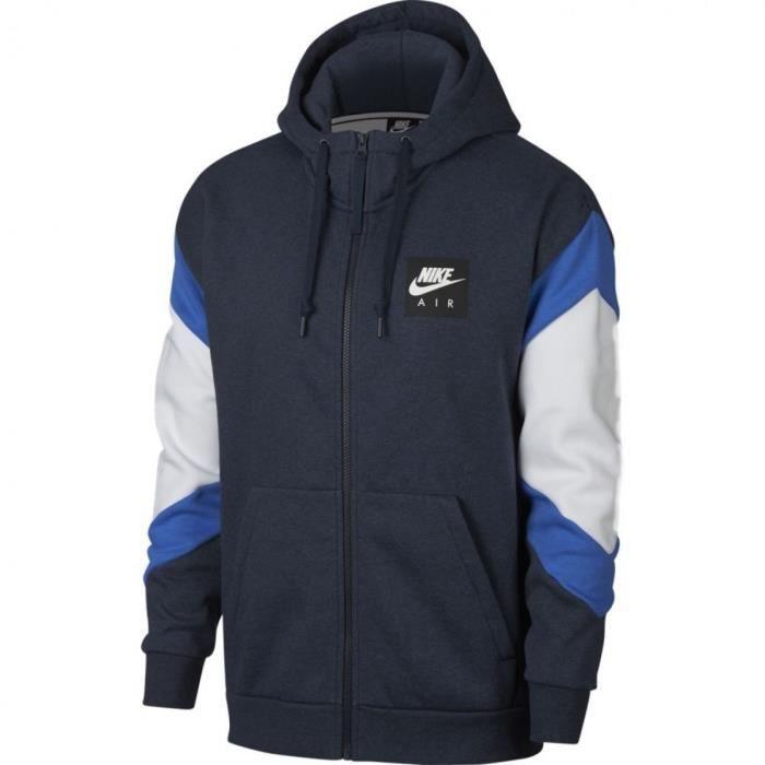 Sweat à capuche Nike Air Sportswear 928629 473 Bleu