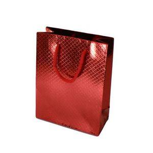 sacs cadeau brillant 2 Pack Nouveauté Santa Noël Bouteille rouge /& bleu