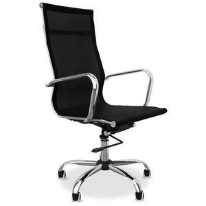 CHAISE DE BUREAU Chaise de bureau T9 - Maille et métal - Roues Noir