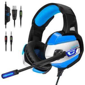 CASQUE AVEC MICROPHONE Casque Gaming  pour PS4 Xbox one Headset Avec Micr