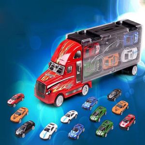 TRACTEUR - CHANTIER Jouets Camion  Transporteur Porte-Conteneur 12 Voi